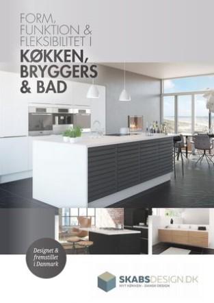 Skabsdesign køkken inspirations katalog.