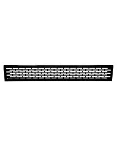 Ventilationsrist - Udluftningsrist Alu malet sort - H:79,8mm x L:480mm - Model 80 N - Skabsdesign.dk