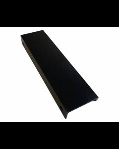 Rehlingsgreb Edge 128 x 148mm - Aluminium malet mat sort Inkl. 2 skruer - Skabsdesign.dk