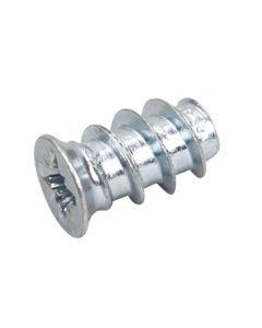 Systemskrue 25 mm til skuffeskinner - Ø6,2x25/Ø7 PZ2 hærdet stål elg.  Passer til ø5mm huller i dine skabe.