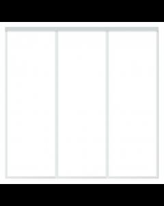 3 Skydelåger på mål - TotalBredde fra 1800-2700mm - Inkl. 2 spors Top/bundskinnesæt - Skabsdesign.dk