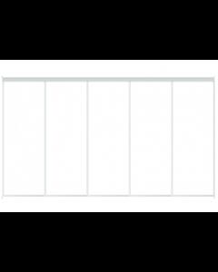 5 Skydelåger på mål - TotalBredde fra 4400-5200mm - Inkl. 2 spors Top/bundskinnesæt -Skabsdesign.dk