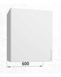 60cm Emhætteskab med 3 hylder (1 låge) H:704mm D:320mm - u-samlet - Hvid mat folie låge