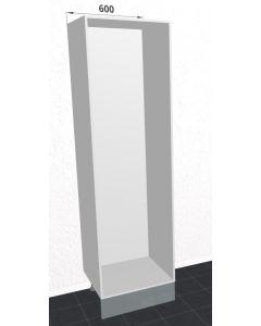 60cm Højskab til indbygning af enten køleskab eller fryser. (Tomt) (Niche: 1920mm) H:1952mm D:560mm - u-samlet
