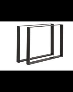 Bordunderstel B750xD80xH710 stål pulverlakeret sort sæt med 2 stk. - Skabsdesign.dk