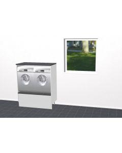Bryggersmøbel 123,2cm - Hvid mat folie låge - Byg selv