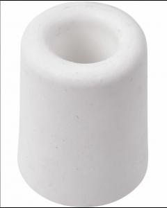 Dørstopper i hvid plastik Ø38 x H:48mm excl. skrue - Skabsdesign.dk