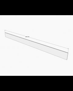 Frontsokkel i Hvid Højglans Folie H:165mm x L:2400mm - 1 stk - Skabsdesign.dk