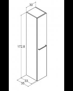 Scanbad Multo+ 60cm Badskab med 2 skuffer og UNO marmorvask - Skabsdesign.dk