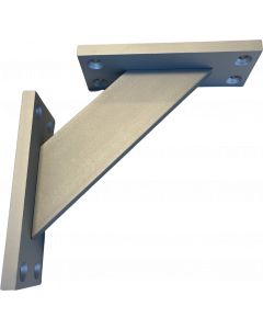 Hyldeknægt - 120 x 120mm - Hvid lakeret aluminium - sæt med 2 stk. - Skabsdesign-dk