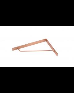Hyldeknægt 180x140x25mm 4mm Ø6x4mm stål malet kobber - Skabsdesign.dk