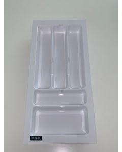 Bestikindsats til 30 cm til skuffeskab - Hvid Plast - Ca. mål D:488 x B:230 x H:48mm