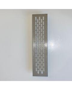Ventilationsrist - Udluftningsrist Børstet stål look - H:59,8mm x L:245mm - Model 60