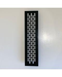 Ventilationsrist - Udluftningsrist Sort lakeret - H:59,8mm x L:245mm - Model 60