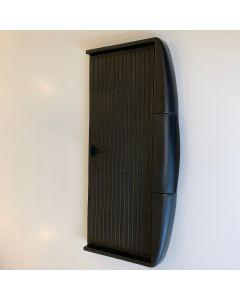 Tastaturudtræk i sort inkl. skinner og beslag til undermontage