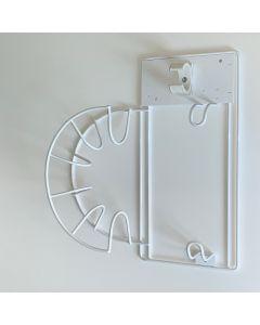 Kosteskabs ophæng til låge - lille model - Hvid lakeret.