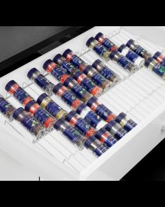 Krydderi indsats Ca. mål. 451x171x28mm Bambus hvidpigmenteret - Skabsdesign.dk
