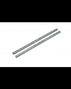 Kugleløb 17 mm 374x17x1mm stål elg. 1 sæt i pose - Metalslæde - Skabsdesign
