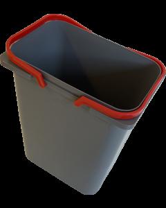 Affaldssystem med 4 spande og låg - På fuldudtræk med softclose - JC609