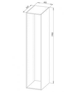 Skinnesæt 200cm Top-/bundskinne Basic-line - Skabsdesign.dk