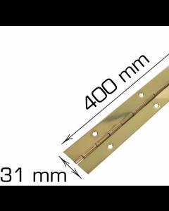 Piano hængsel - 400 mm - Klaverhængsel - Messing inkl. skruer - Skabsdesign