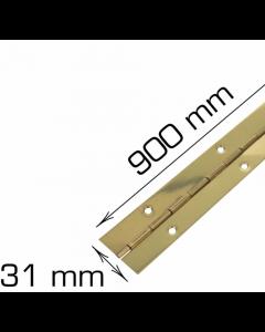 Piano hængsel - 900 mm - Klaverhængsel - Messing inkl. skruer - Skabsdesign