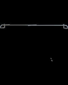 Skobøjle M80 excl. skruer L:516 x H94mm - Silver - Skabsdesign.dk
