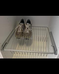 Skohylde til 50cm skab - Højde 10cm - Inkl. Skinner - 1 Kurv - M50 - Skabsdesign.dk