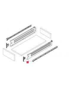 Skuffeskinner - Rulleløb - 45x350mm med fuldudtræk - 1 sæt