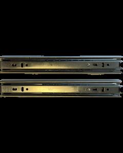 Skuffeskinner - Rulleløb - 35x250mm med fuldudtræk - 1 sæt - Skabsdesign.dk