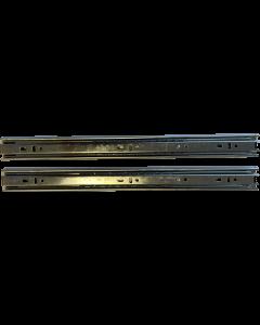 Skuffeskinner - Rulleløb - 35x450mm med fuldudtræk - 1 sæt - Skabsdesign.dk