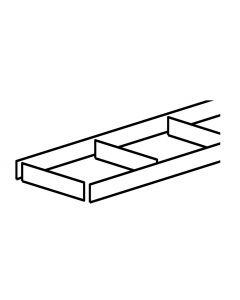 Sokkelpakke - Sokkelsæt Kort udgave - H:165mm x D:1200mm Hvid melamin. Indeholder: 1 Frontsokkel, 1 endesokel og afstandsstykker