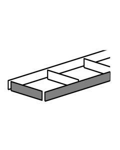 Sokkelpakke - Sokkelsæt H:165mm x D:2400mm Alu laminat look. Indeholder: 1 Frontsokkel, 2 endesokler og afstandsstykker  - Skabsdesign.dk