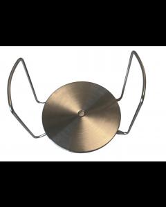 Tallerkenholder i stål - Plast - Justerbar - Justerbar Ø:195mm til Ø:310mm - Skabsdeasign.dk