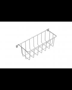 Trådkurv 260x98x90 M0 stål malet silver til påskruning ex. skruer - Skabsdesign.dk