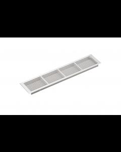 Ventilationsrist - Udluftningsrist - H:86mm x L:400mm - Aluminium - anodiseret - Skabsdesign.dk