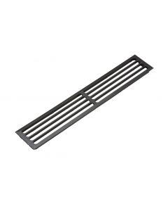 Ventilationsrist - Udluftningsrist - H:81mm x L:480,5mm - Plast - Indfarvet sort - Skabsdesign.dk