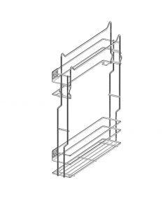 Rengøringsudtræk til skab - Smal model - Med softclose og fuldudtræk - Krom