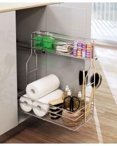 Udtræk til vaskeskab - Rengøringsudtræk med Softclose - Vælg mellem Højre eller Venstre model