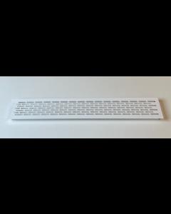 Ventilationsrist - Udluftningsrist Alu malet hvid - H:79,8mm x L:480mm - Model 80 W